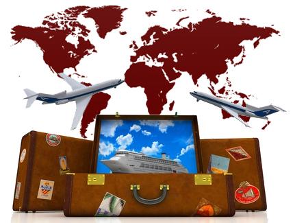 Crociera, Viaggiare, valigie, agenzia viaggi, vacanze